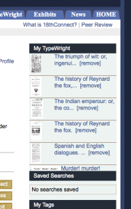 "Figure 11 ""My TypeWright"" on the ""My18th""tab"